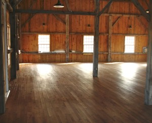 open space dance floor with wood floors