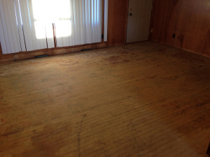 Red Oak Floor Before - Omro WI