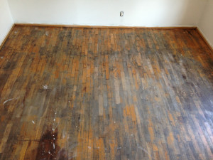 White Oak hardwood refinish - Oshkosh WI