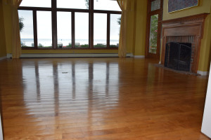 maple hardwood floor before
