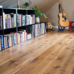 Rustic Ash Plank floor stained