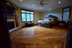 hickory floor with custom border