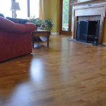 stained maple floor