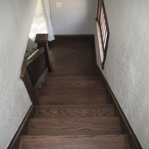 refinished hardwood staircase