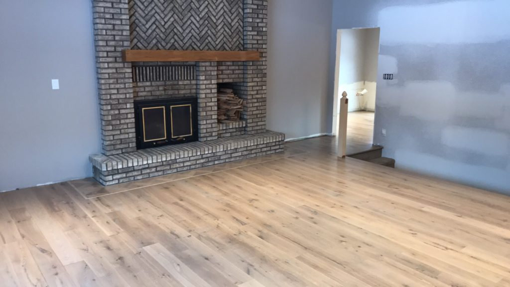 Live sawn white oak with light stain