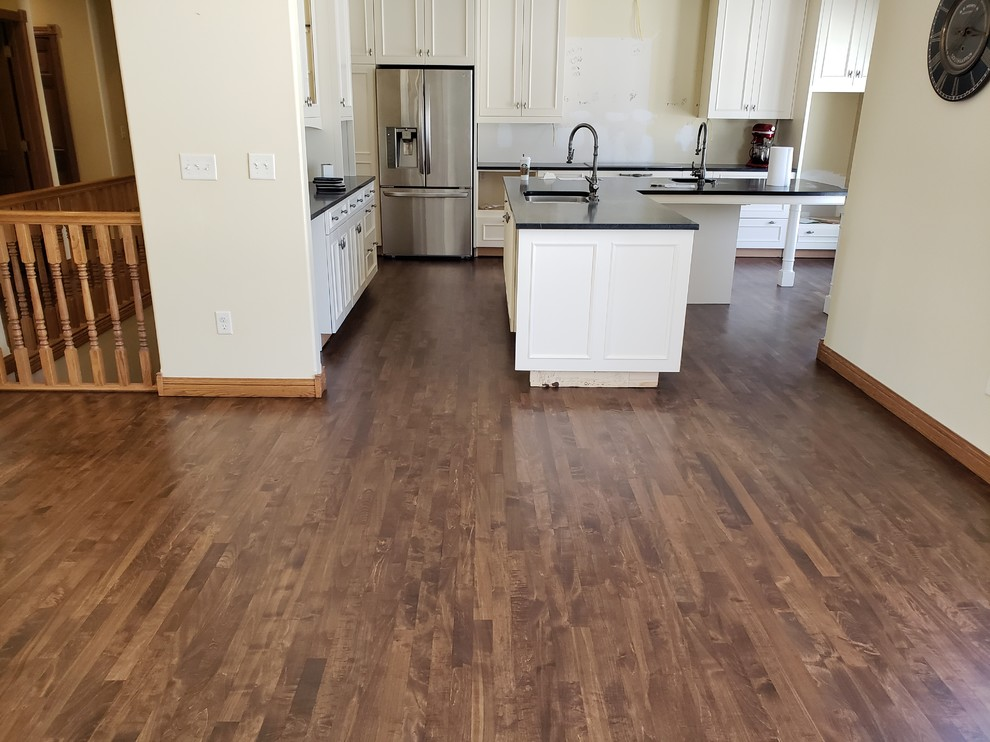 Maple with brown custom stain