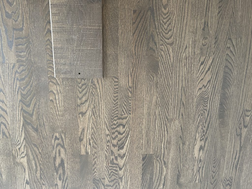 Red oak with cool brown grey tones