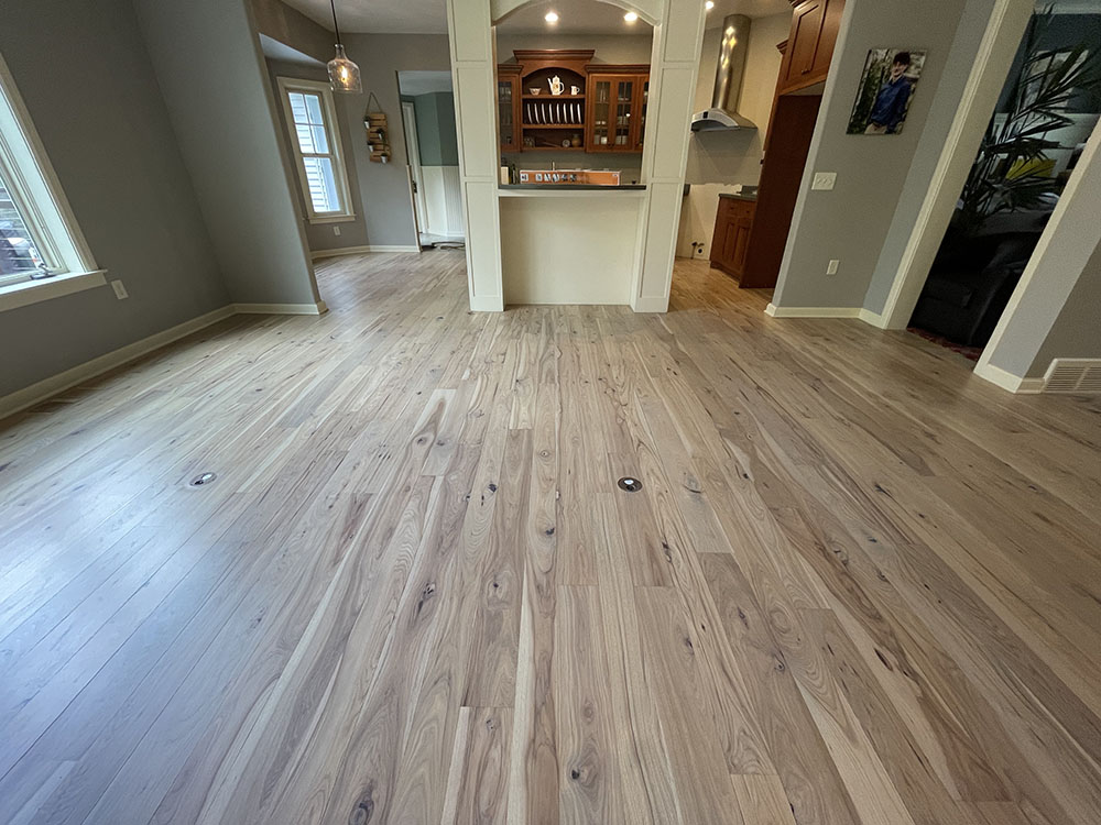final result of entire hickory floor