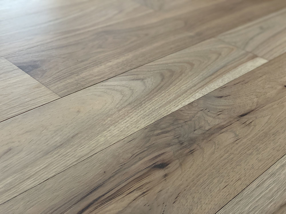 greige hickory floor close up